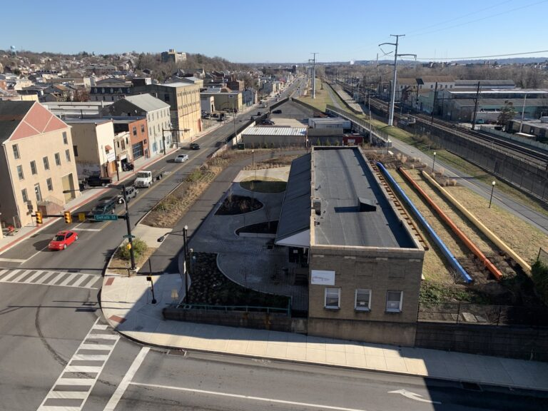 The goal of the project was to connect Lafayette Street to a soon-to-come Pennsylvania Turnpike interchange. (Courtesy of Montgomery County)