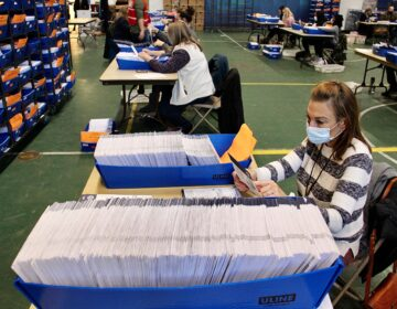 Chester Country election workers check ballots