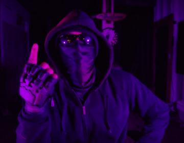 "Damien J. Wallace, playing Underground Man in EgoPo's production of ""Underground."" (Screenshot)"