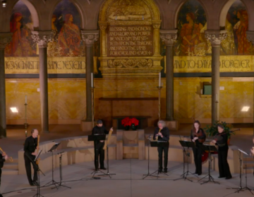 Renaissance band Piffaro perform their 17th-century English masque concert in the Episcopal Cathedral in West Philadelphia