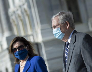 House Speaker Nancy Pelosi and Senate Majority Leader Mitch McConnell are now in direct talks about coronavirus relief aid, after weeks of pushing competing proposals. (Brendan Smialowski/AP Photo)