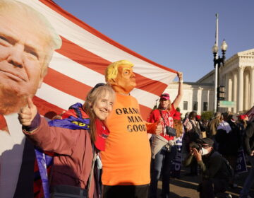 Supporters of President Trump attend pro-Trump marches outside the Supreme Court building in Washington on Nov. 14.
