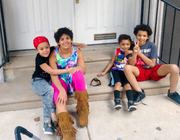 The four youngest Quinn family children, who are moving back to a shelter. (Courtesy of Deborah Quinn)