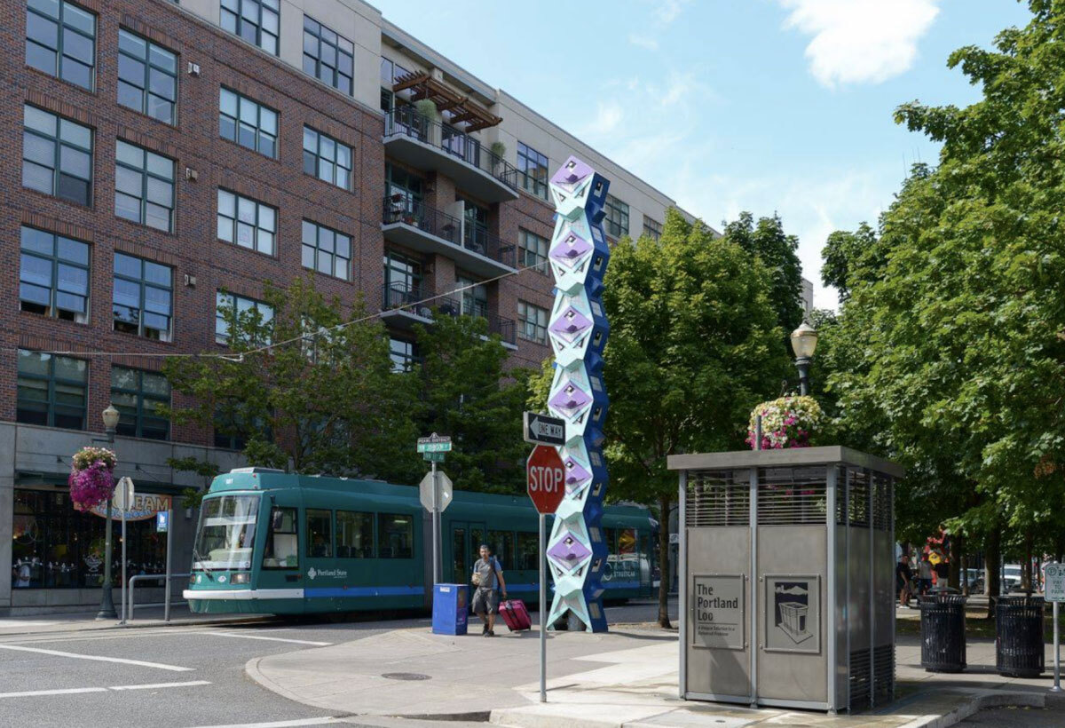 A Portland Loo shown on a Portland street in 2015.