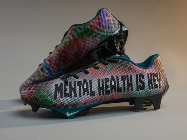Customized cleats for Jalen Reagor feature Philly nonprofit Black Men Heal