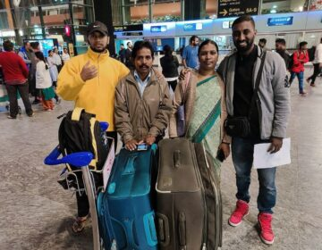 Girish Venkatesh with his family before he left India to study in Arizona. He is among the roughly 1 million international students at U.S. colleges and universities. (Courtesy of Girish Venkatesh)