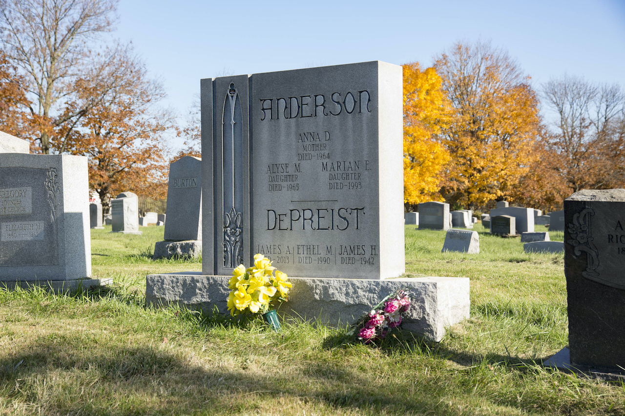 Marian Anderson's headstone at Eden Cemetery