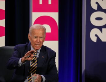 Former Vice President Joe Biden addresses a Planned Parenthood Action Fund candidate forum in June 2019 in Columbia, S.C. (Logan Cyrus/AFP via Getty Images)