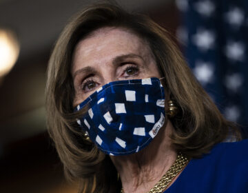House Speaker Nancy Pelosi, D-Calif., is pictured on Capitol Hill on Nov. 20. The House voted Monday to increase direct payments to Americans above what is provided in the COVID-19 relief legislation President Trump signed on Sunday. (Drew Angerer/Getty Images)