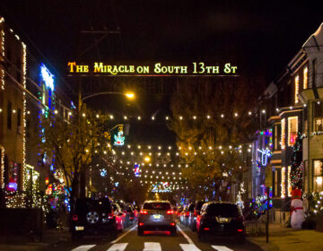Holiday lights at 13th and Tasker Streets
