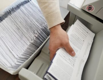 More than 3.1 million people in Pennsylvania applied to vote by mail in November, and the state's 67 counties processed every request, according to the Department of State. (Matt Smith for Spotlight PA)
