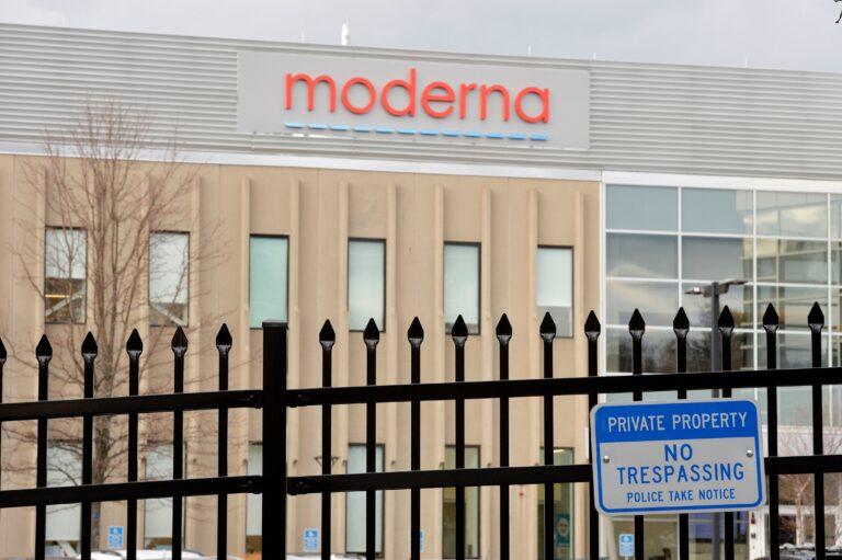 The exterior of a Moderna building