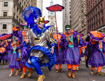 A scene from the 2020 Mummers Parade