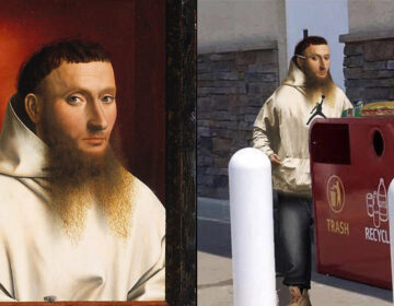 Left: 'Portrait of a Carthusian' by Petrus Christus, 1446; Right: Just another NE Philly dude (LEFT: MET MUSEUM/PUBLIC DOMAIN; RIGHT: THE INTERNETS)