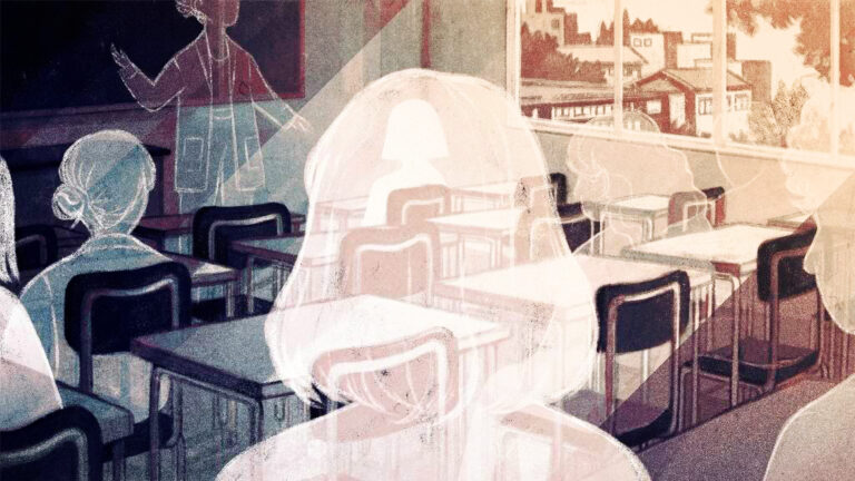 Even with teachers working hard to educate their students virtually during the pandemic, they're growing increasingly anxious about the ones who aren't showing up to class at all. (Sarah Gonzales for NPR)