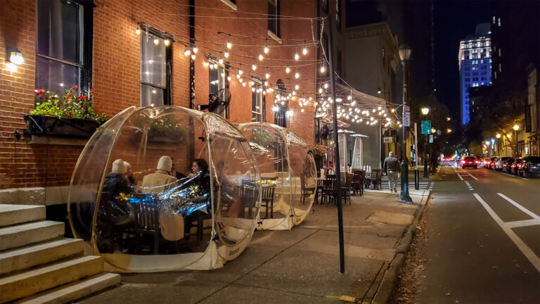 With indoor dining on hold, some restaurants have gone to great lengths to make outdoor dining work in the winter. (Mark Henninger/Imagic Digital)