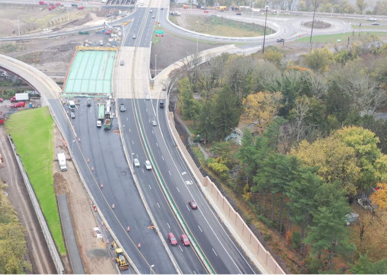 This drone footage shows construction on the Scudder Falls Bridge. (Delaware River Joint Toll Bridge Commission)