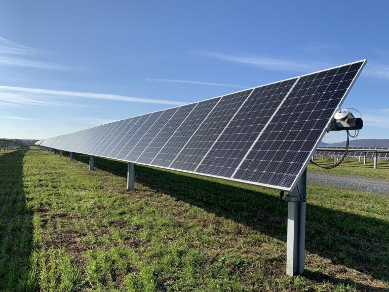 A solar array at the Nittany 1 Solar Farm