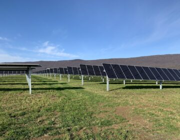 A solar field in Franklin County
