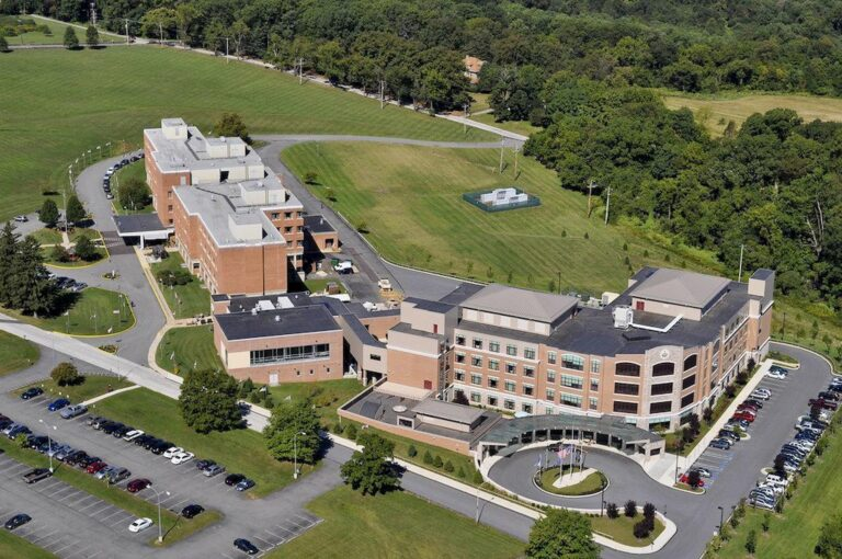 An aerial view of the Southeastern Veterans' Center