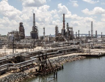 File photo: The former PES refinery site in South Philadelphia on June 2020. (Kimberly Paynter/WHYY)