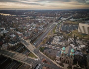 An aerial view of Trenton, New Jersey.