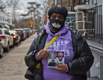 Sharon James lost her son John Heggie III, 30, 2 years ago to the day to gun violence. (Kimberly Paynter/WHYY)