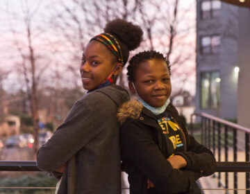 Makayla Coleman, 15 (left), and her brother Devon Hester, 13 (right), have been tapped for their opinions about city planning and civics. Philadelphia is targeting the Gen Z'ers for more government and civic participation. (Kimberly Paynter/WHYY)