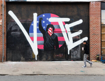 A vote 2020 mural in Philadelphia on South Street