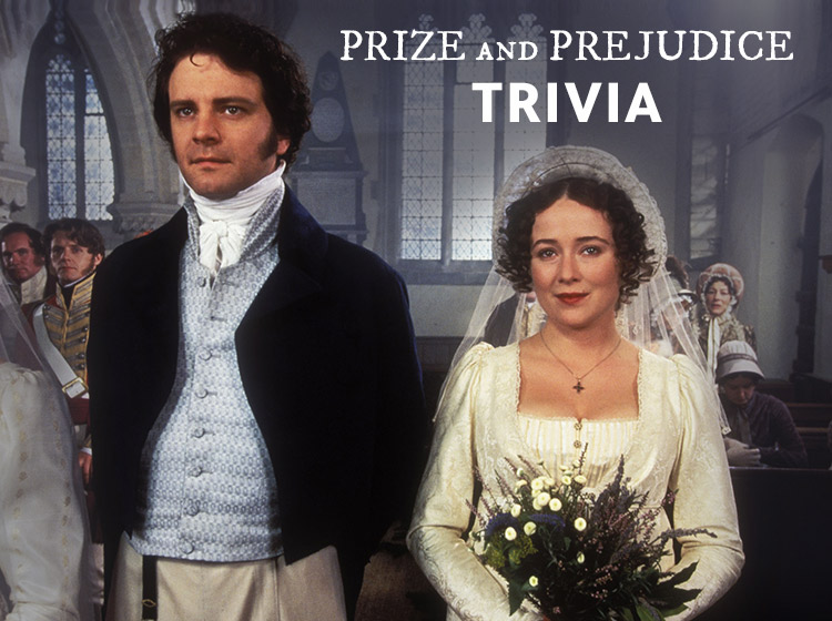 Colin Firth as Mr. Darcy and Jennifer Ehle as Elizabeth Bennet in Pride and Prejudice