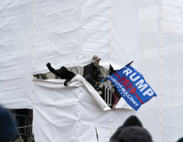 Pro-Trump insurrectionists gather outside the Capitol, Wednesday, Jan. 6, 2021, in Washington.  (AP Photo/Jose Luis Magana)