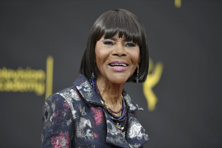 Cicely Tyson arrives at night two of the Creative Arts Emmy Awards on Sept. 15, 2019, in Los Angeles. (Photo by Richard Shotwell/Invision/AP, File)
