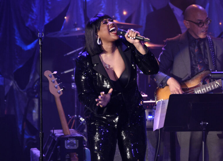 Jazmine Sullivan performs at the Pre-Grammy Gala And Salute To Industry Icons