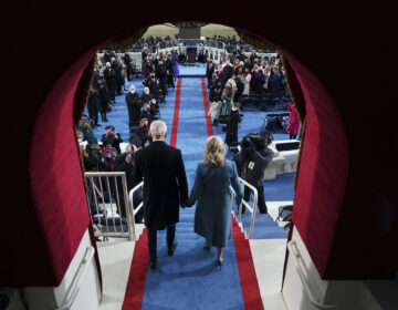 President-elect Joe Biden's and Dr. Jill Biden arrive his inauguration