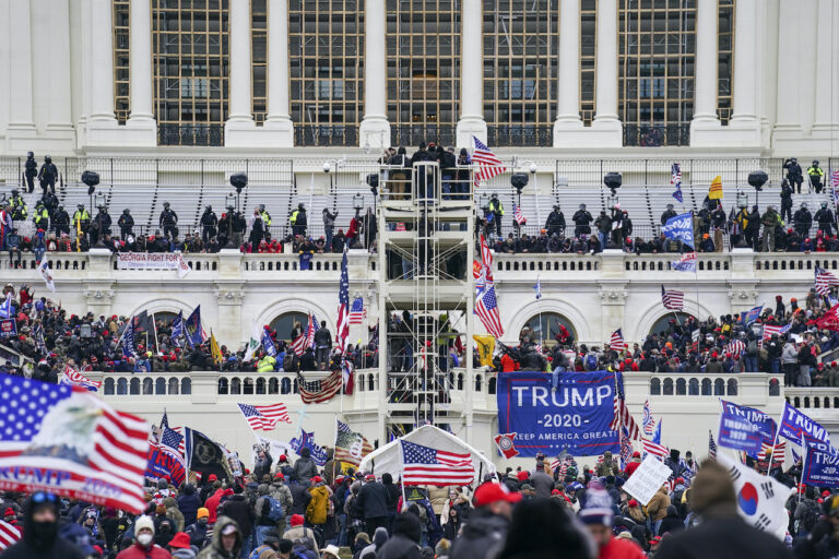 Pro-Trump insurrectionists storm the Capitol, Wednesday, Jan. 6, 2021, in Washington.