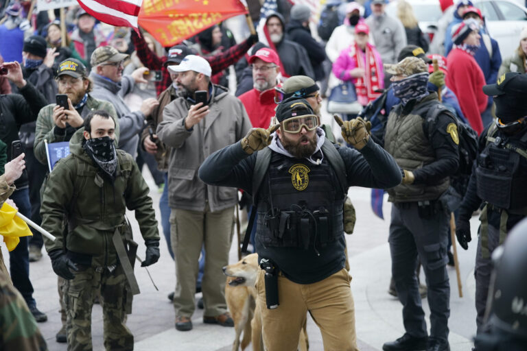 Pro-Trump insurrections storm the Capitol in Washington.