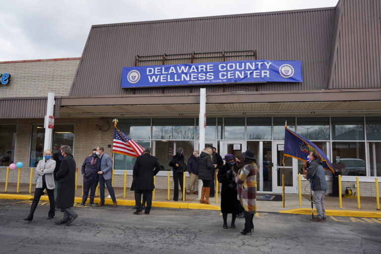 The new wellness center in Yeadon will eventually be the 'hub' of Delaware County's future health department. (Kenny Cooper/WHYY)
