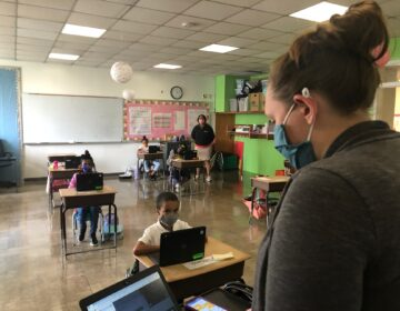 Most Delaware K-12 schools are back in hybrid status. EastSide Charter in Wilmington had limited in-class learning last fall. (Cris Barrish/WHYY)