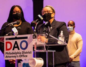 Myra Maxwell (right) is the Director of the Philadelphia CARES Unit in the District Attorneys Office. (Kimberly Paynter/WHYY)