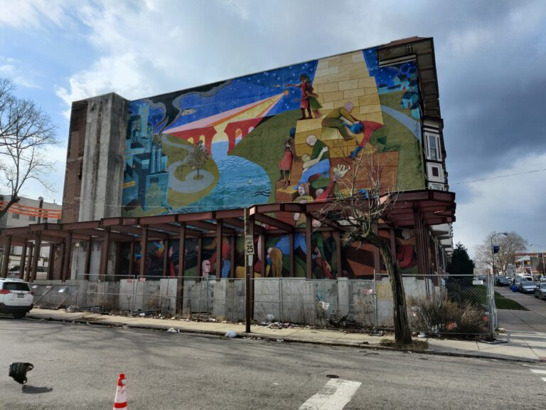 Mural in West Philadelphia by Paris Stancel and Dave McShane