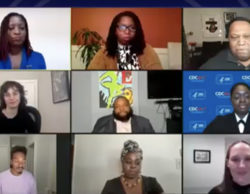 At a virtual town hall hosted by WHYY, direct engagement was seen as key to helping overcome mistrust of the country's racist medical history. (Screenshot)