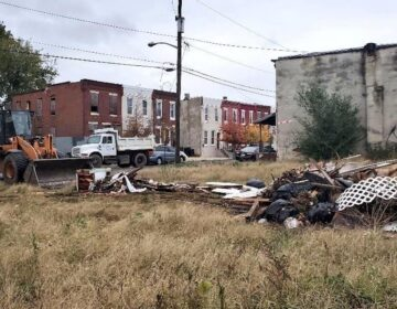 An illegal dumping site in Camden