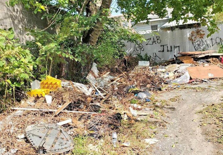 An illegal dumping site in Camden