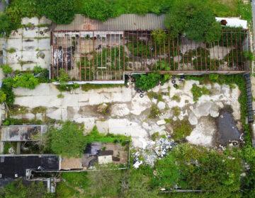 An illegal dumping site on Chestnut Street in Camden