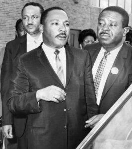 Dr. Martin Luther King Jr. leaves Philadelphia International Airport