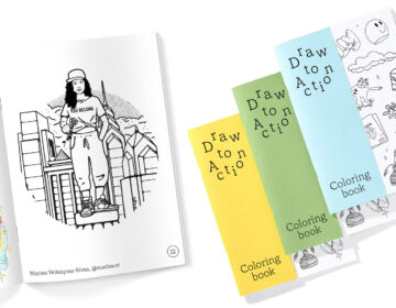 A peek at the Draw to Action coloring book