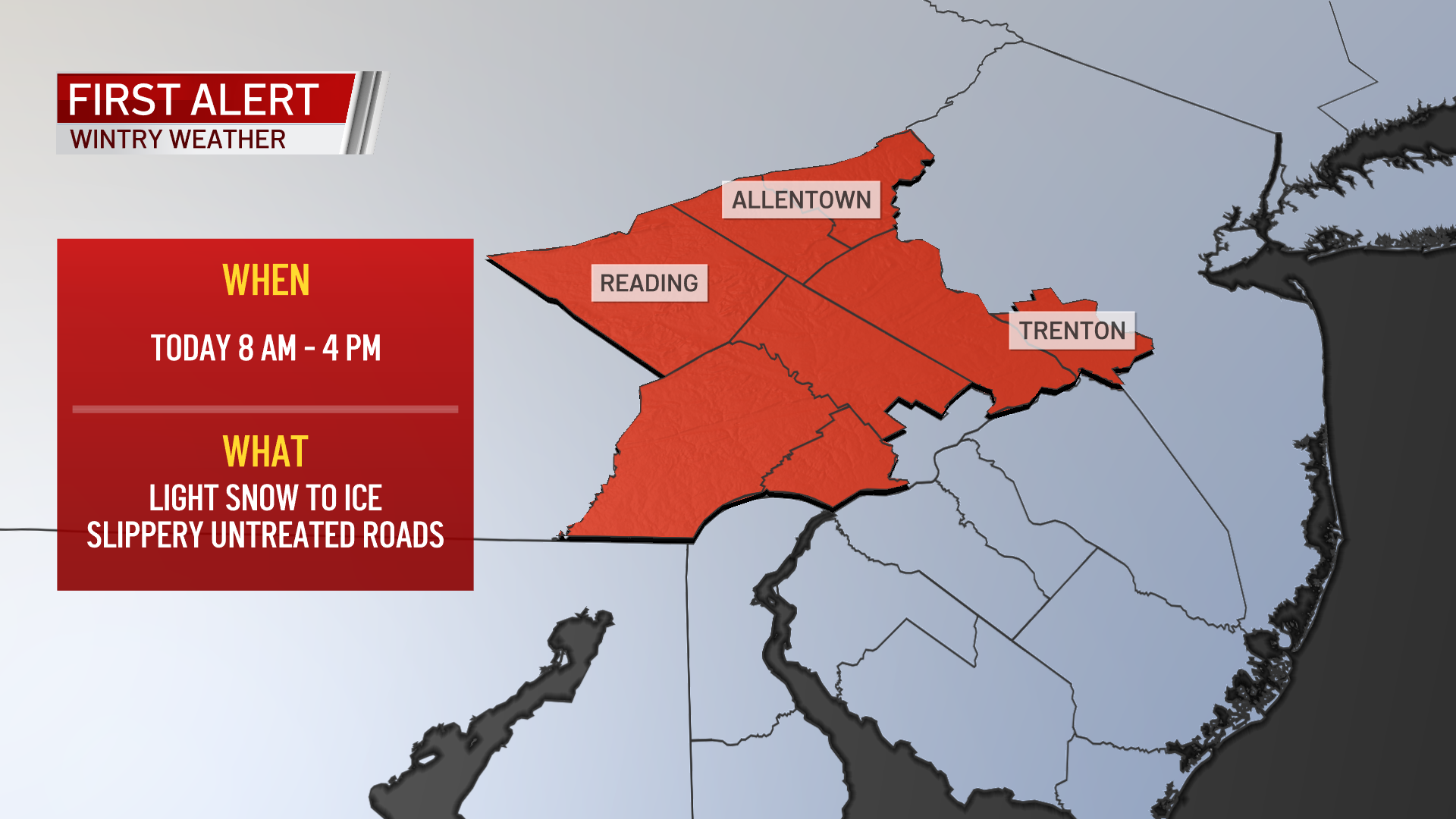 A First Alert NBC10 weather map