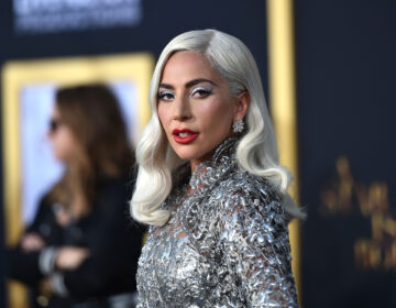 Lady Gaga appears on the red carpet
