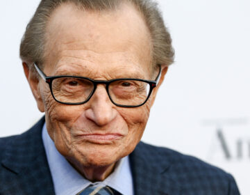 Larry King's career spanned more than six decades. He's pictured above in May 2017 in West Hollywood, Calif.