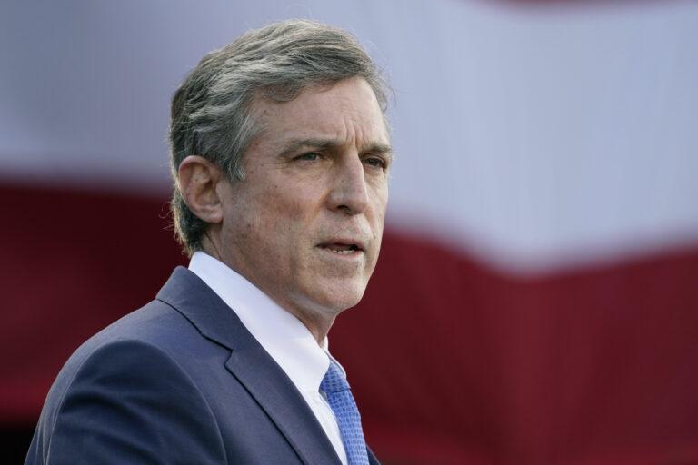 Delaware Gov. John Carney speaks to the press